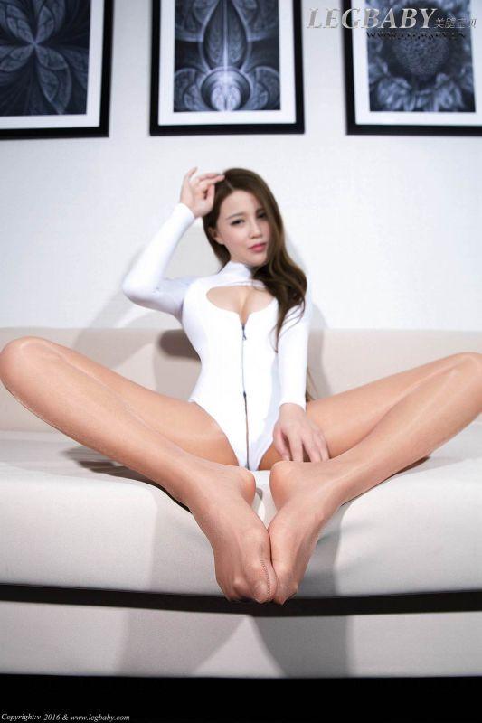 若兮 - 白色高叉 写真套图