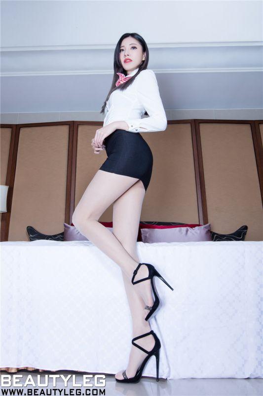 非常完美长腿空姐Abby肉丝袜高跟写真